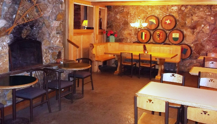 Dining area at the Tahoe House Bakery