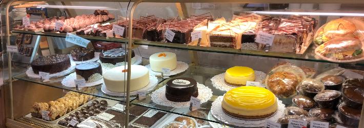 Sweet cake selection